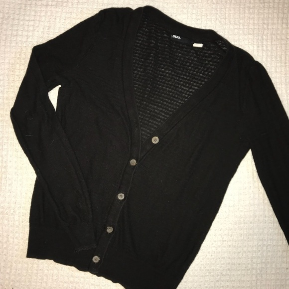 213d26465e1 Urban Outfitters BDG Black Ribbed Cardigan